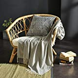 GSJJ Sofa Throw Blanket Knitting Nordic Style, Tassel Design, Soft Breathable Sofa Cover Slipcover Couch Cushion Sheet Beach Towel for Office nap Hotel Home Decoration,Gray,120220cm