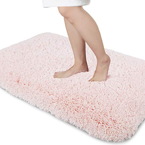 Yimobra Premium Plush Bathroom Rug Non Slip Fluffy Bath Mat, 44.1 x 24 Inch, Incredibly Soft Comfortable, Extra Thick…
