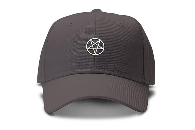 Amazon.com  Upside Down Pentagram 5 Pointed Star Low Profile Dad Hat ... 7a4b2deb065
