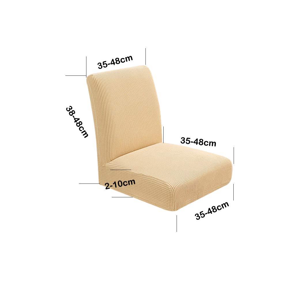 as described Deep Blue B Blesiya Stretchy Short Back Chair Slipcover Cushion for Wedding Kitchen Dining Bar Club Receptions Decoration