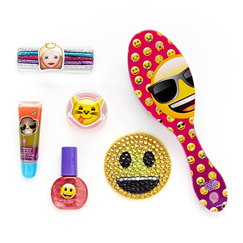 Townley Girl Emoji Sparkly Lip Gloss Compact For Girls, Asso