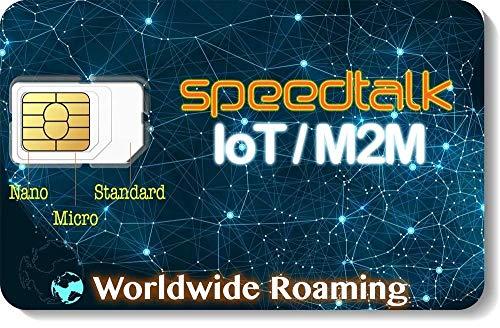 SpeedTalk IoT M2M SIM Card Starter Kit - Internet of Things - Machine to Machine - Worldwide Coverage in 200 Countries
