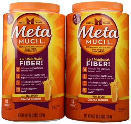 Metamucil Original with Real Sugar Value Pack - Net Wt 96.4 oz(6 LBS) 2.73kg - Orange Flavor