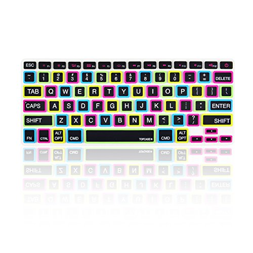 Candy Skin Case Cover - TOP CASE Candy Black Keyboard Cover Skin Compatible with MacBook 13