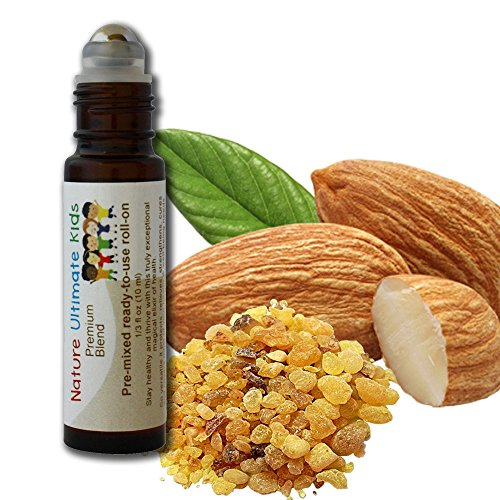 Frankincense oil blend - Nature Ultimate Kids – Pre-mixed, kid-ready magic elixir of health & well-being. 100% natural & safe for kids. Parent tested, kid approved, 10 ml (1/3 fl oz) roll-on