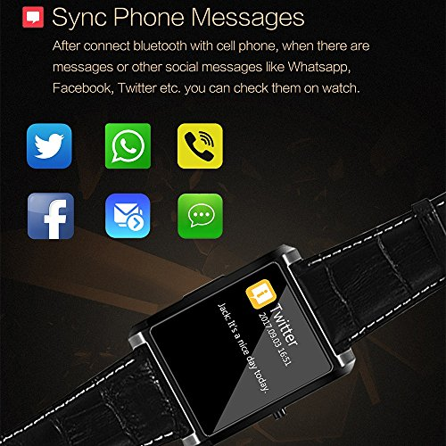 PINCHU Smart-watch MTK2502 Heart Rate Monitor fitness tracker syn Android iOS iPhone fashion 2018 lemfo Bluetooth Wearable Device, A by PINCHU (Image #1)