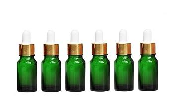 0c44c83b6703 6Pcs Green Glass Essential Oil Dropper Bottles Portable Empty Refillable  Sample Container Makeup...