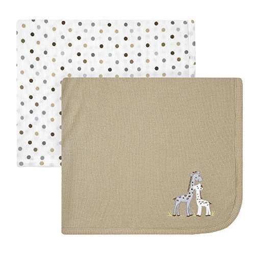 Koala Baby 2 Pack Thermal Blankets - Grey Giraffes