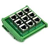 Electronics-Salon RJ45 8P8C 9-Way Buss Board DIN Rail Mount Interface Module.