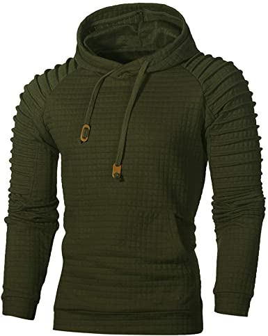 Men Slim Fit Plain Hooded Sweatshirt Zip Up Hoodies Sweat Hoody Zipper Jacket