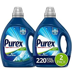 Best Epic Trends 51gZ8eNac1L._SS300_ Purex Liquid Laundry Detergent, Mountain Breeze, 2X Concentrated, 2Count, 220 Total Loads