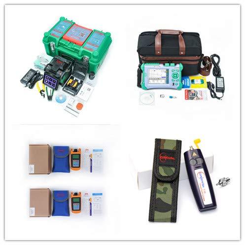(ARC Fusion Splicer Kit KOMSHINE GX37 w/ 9 Languages + QX50-MS2 850/1300+1310/1550nm 21/19/30/28dB OTDR Tester +Fiber Optic Power Meter + Optic Fiber Light Source + Visual Fault Locator/VFL)