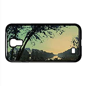 Morning At The Lake Watercolor style Cover Samsung Galaxy S4 I9500 Case (Lakes Watercolor style Cover Samsung Galaxy S4 I9500 Case)