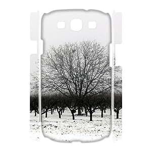Samsung Galaxy S 3 Case, winter bw 3D Case for Samsung Galaxy S 3 White