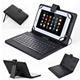 New PU Leather Stand Case Cover With Micro USB Keyboard kickstand Protective Cover for 7
