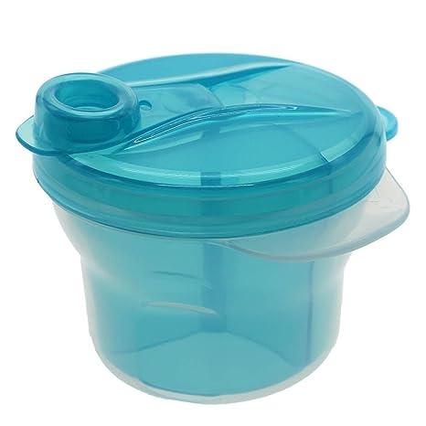 W-top Dispensador de leche en polvo para bebé infantil, 3 tomas separados Dosificador