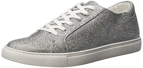 Kenneth Cole REACTION Women's Kam-Era 2 Fashion Sneaker, Silver/Glitter, 9.5 M US
