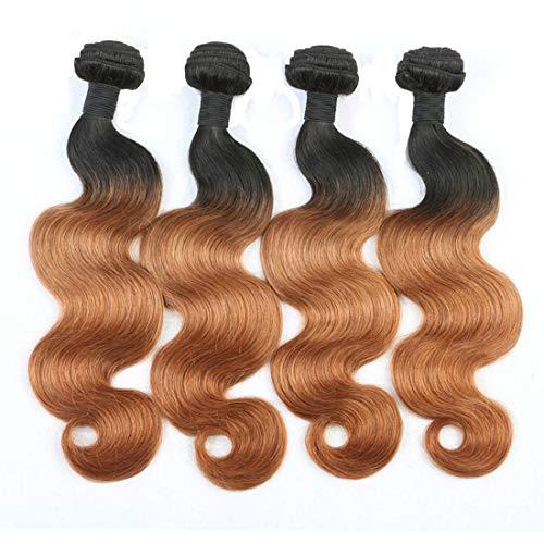 IMAYLI Ombre Body Wave Virgin Hair 4 Bundles 7A Ombre Body Wave Human Hair Weave 1B 30 Human Hair Extensions(20202020)