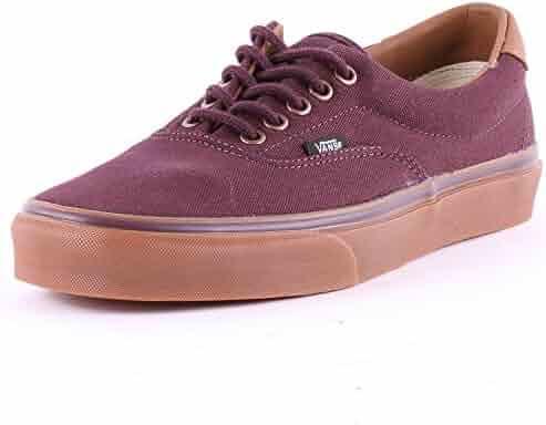 297fe40cbb Vans Unisex Era 59 (C L) Winetasting Classic Gum Skate Shoe 7 Men US