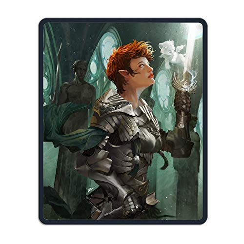 Price comparison product image Fantasy Women Warrior Short Hair Elf Armor Statue Sword Mouse Pad Custom Gaming Mousepad Rubber Mouse Mat