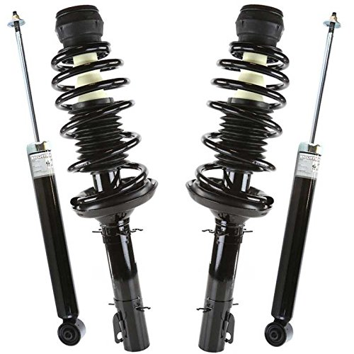 Prime Choice Auto Parts KS5986-0025 Front & Rear Set 2 Front Complete Strut Assemblies & 2 Rear Shock Absorbers (Volkswagen Golf 4 Parts)