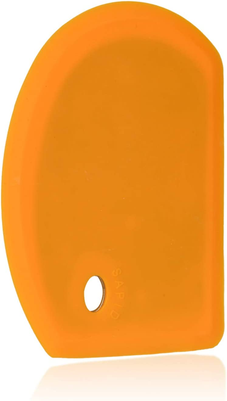 Sapid Flexible Curved Edge Silicone Bowl Scraper, Extra Large(5.98
