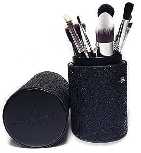 Best Makeup Brush Set Professional 10 Piece Cosmetic Tool Kit with Kabuki & Concealer Brushes, Bonus Travel Case and Gift Box