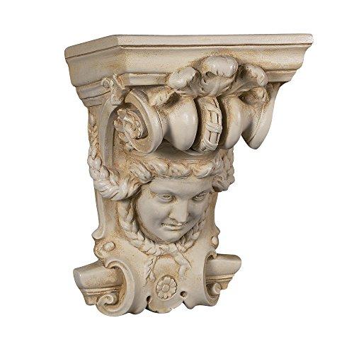 (Architectural Superstore BuyFauxStone Lion Head w/Ecan Leaf Corbel-Travertine)