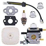 NIMTEK C1U-K54 C1U-K54A Carburetor Repower Kit for 2-Cycle Mantis 7222 7222E 7222M 7225 7230 7234 7240 7920 7924 Tiller / Cultivator Carb