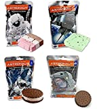 Astronaut Ice Cream Neapolitan, Mint, Cookies & Cream, and Ice Cream Sandwich Freeze Dried Food - Variety Pack of 4