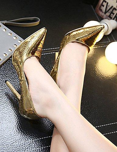 GGX/Damen Schuhe Fall Heels Spitz Zulaufender Zehenbereich Heels Party & Abend/Kleid Stiletto Heel andere Silber/Gold golden-us6.5-7 / eu37 / uk4.5-5 / cn37