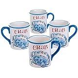 18 oz coffee mug set - Certified International Beach House Mugs (Set of 4), 18 oz, Multicolor