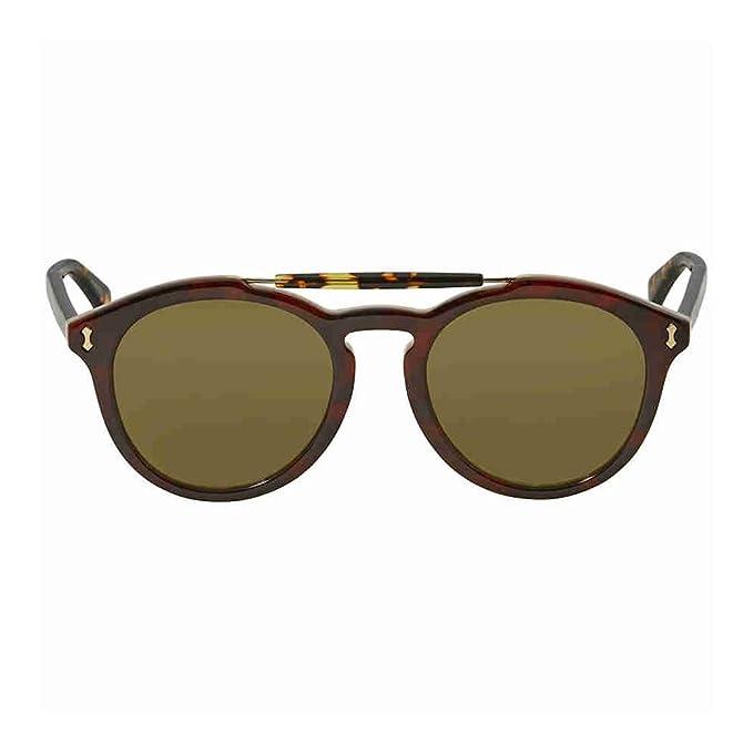 1b00c7c4b21 Gucci Asian Fit Green Round Mens Sunglasses GG0124SA 003 52  Amazon.ca   Clothing   Accessories