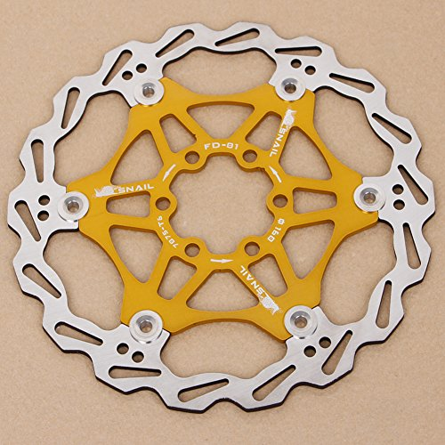 SCASTOE 1Pc Bicycle Mountain Bike MTB Brake Float Floating Disc Rotors Plate 160mm New (Gold)