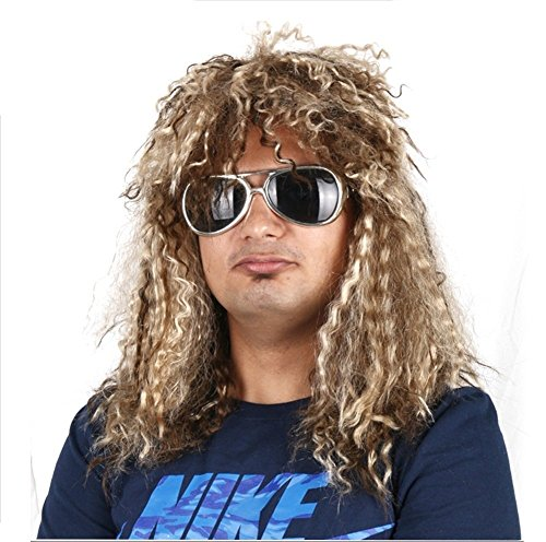 A Labs Rockstar Costume Wig - Heavy Metal - #1Quality 80s Rocker Wig -
