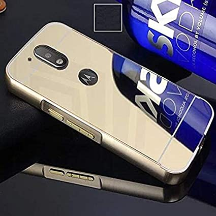 sneakers for cheap a7d0d 68326 Prego New Golden Mirror Back Cover for Motorola Moto G4: Amazon.in ...