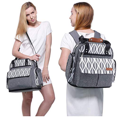 Diaper Bag Backpack Large Capcity Baby Tote Shoulder Bags Lekebaby Expandable Travel Messenger Bags Mom