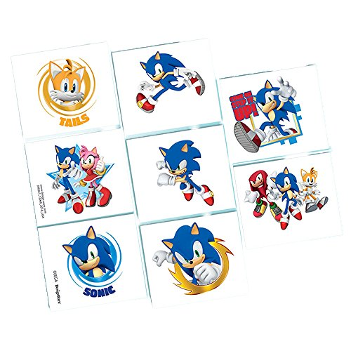 Amscan Sonic The Hedgehog Tattoo Favors]()