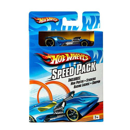 Hot Wheels Speed Pack INCLUDES: mini poster,stickers, racing license, coupon and hot wheels car (Cars Wheels Stickers Hot)