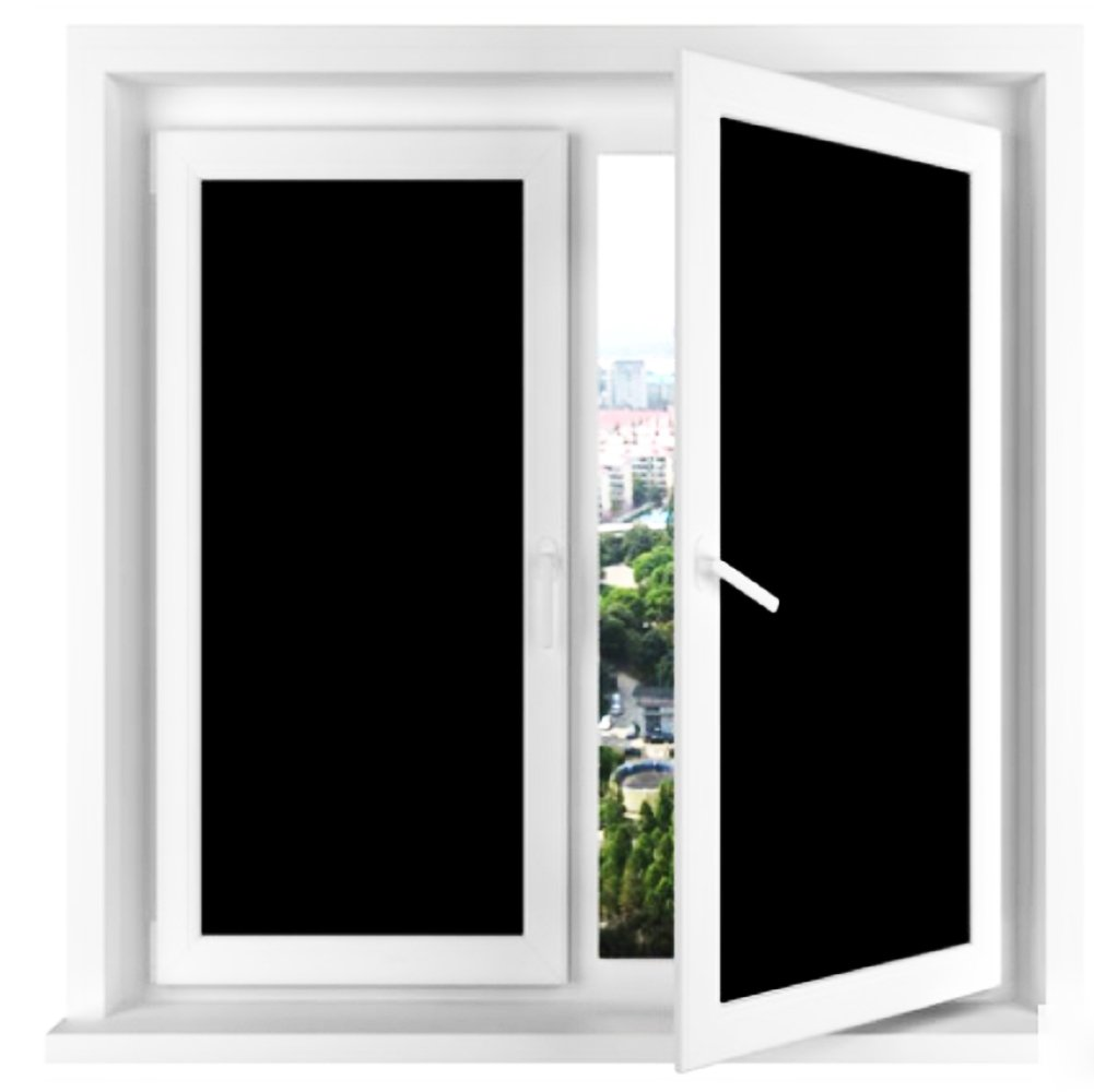 """Vivi Do Blackout Window Film,Static Cling Window Tint 100% Light Blocking Glass Film for Privacy,Home Security,Insulation, and Day Sleep - No Residue, UV Prevention, Easy Removal (17.7"""" x 78.7"""")"""