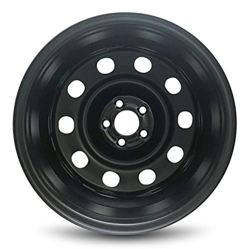 Road Ready Car Wheel For 2018 Ford Escape 2013-2018 Ford Focus 17 Inch 5 Lug Black Steel Rim Fits R17 Tire Full-Size Spare Exact OEM Replacement