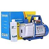 VIVOHOME 110V Rotary Vane HVAC Air Vacuum Pump with Oil Bottle
