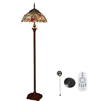 Style Led Lampadaire 16 Tiffany Verre Lumière Pour Aiboty Pouce 0O8PkXnw
