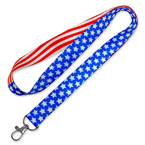 Lucky Line Lanyard with Swivel Snap, Patriotic Design (C206)