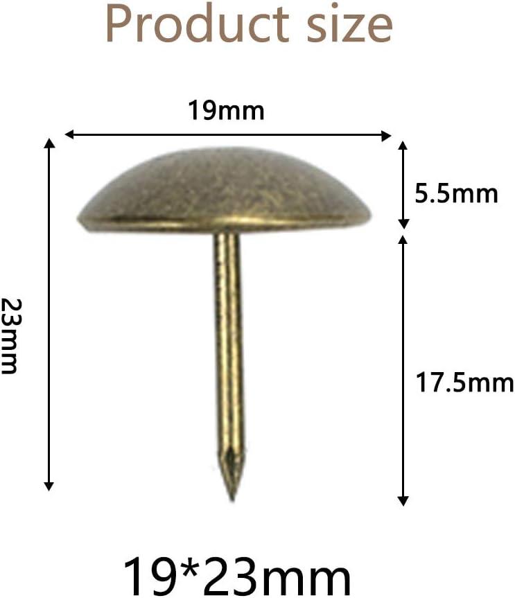 11mm//12mm//16mm//25mm//40mm Punaises de Tapisserie Vintage Clous de Meubles Or//50 Pi/èces YINSONG Clous de Tapissier 10-200 Pi/èces