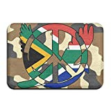 South African Flag Peace Sign Symbol Indoor Outdoor Entrance Rug Non Slip Car Floor Mats Doormat Rugs Home