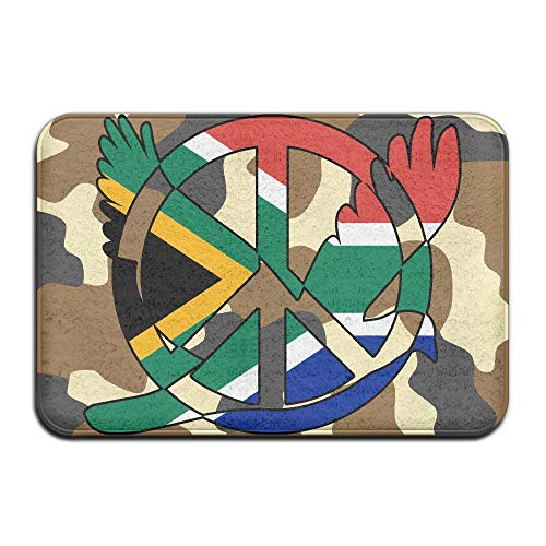South African Flag Peace Sign Symbol Indoor Outdoor Entrance Rug Non Slip Car Floor Mats Doormat Rugs Home by HONMAt-Non