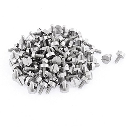Computer PC Case M3x7mm Pan Head Metal Slotted Thumb Screws 100pcs (Metal Slotted Thumb Screws)