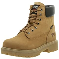 "The Timberland PRO® Direct Attach 6"" Soft Toe offers superior waterproof protection and rugged, long-lasting performance to keep you safe under demanding conditions. Style number 65030713. Premium waterproof leather with seam-sealed direct-in..."