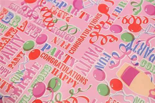 PINK PVC VINYL FABRIC OILCLOTH BIRTHDAY PARTY FUN CELEBRATION ANNIVERSARY CONGRATULATIONS GIFT WIPECLEAN REUSUABLE CAFE KITCHEN TABLECLOTH SOLD BY THE METRE I Want Fabric